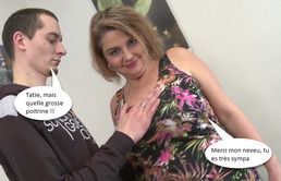 Le pervers neveu baise la chaude tante