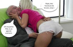 elle baise son grand pere salope fetichiste