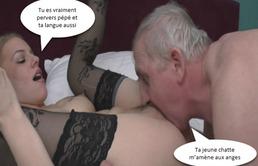 Sexe dur entre le grand-père et sa petite-fille