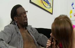 Elle se tape son beau père noir
